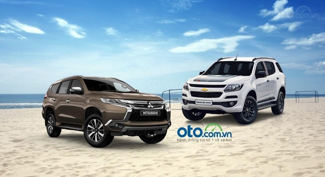 So sánh xe Mitsubishi Pajero với Chevrolet Traiblazer