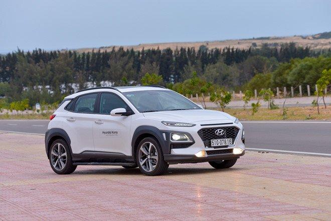Hyundai Kona sở hữu khung gầm cao.