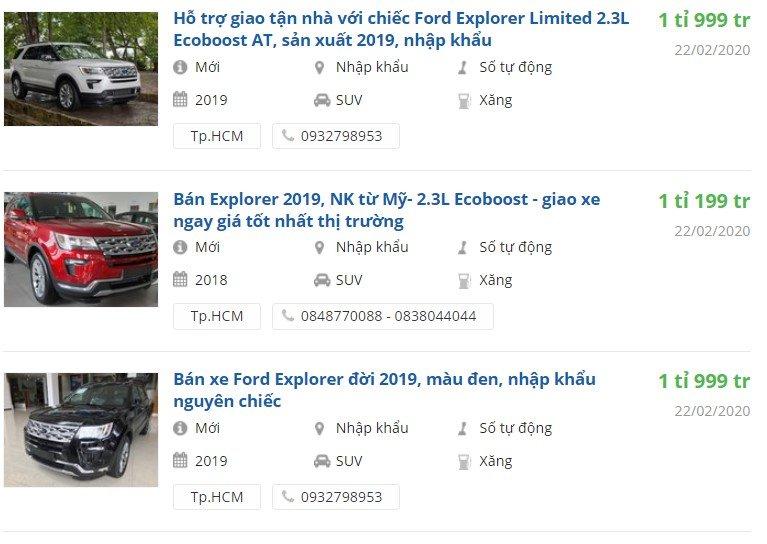 Ford Explorer với chính sách ưu đãi hấp dẫn, giảm giá cao nhất 269 triệu đồng a1