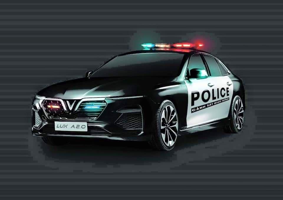 Hình ảnh xe VinFast được dùng cho CSGT Việt Nam.