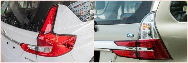 Thiết kế đèn hậu Suzuki Ertiga 2020 và Toyota Avanza 2020 1