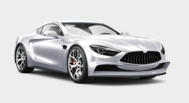 Màu bạc xe ô tô.