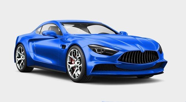 Màu xanh dương xe ô tô.