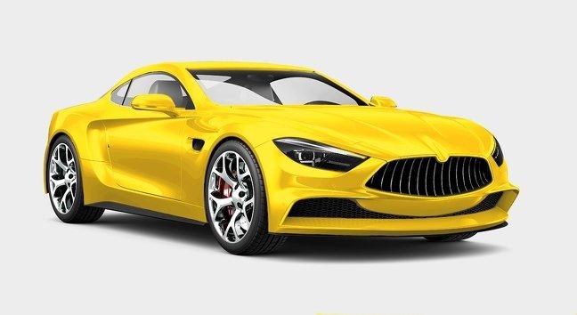 Màu vàng xe ô tô.