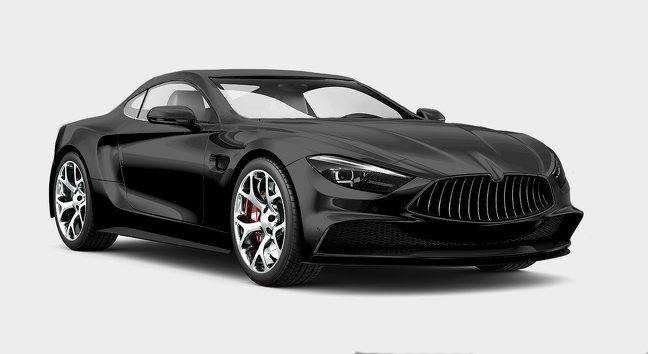 Màu đen xe ô tô.