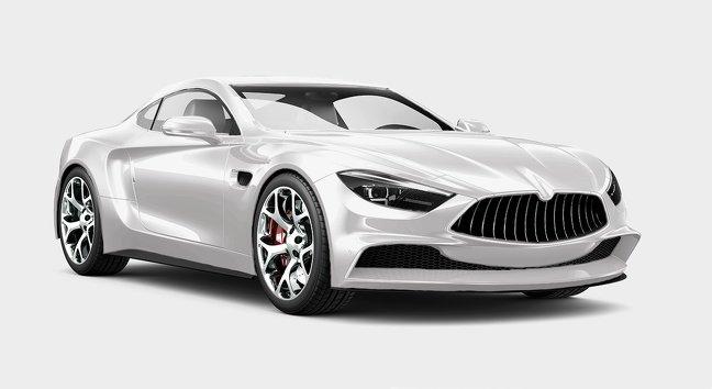 Màu trắng xe ô tô.