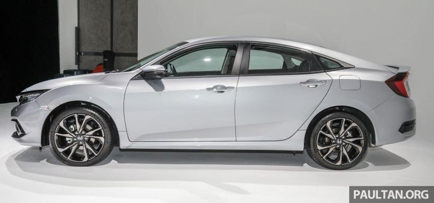 Honda Civic 2020 facelift sở hữu 3 tùy chọn biến thể.
