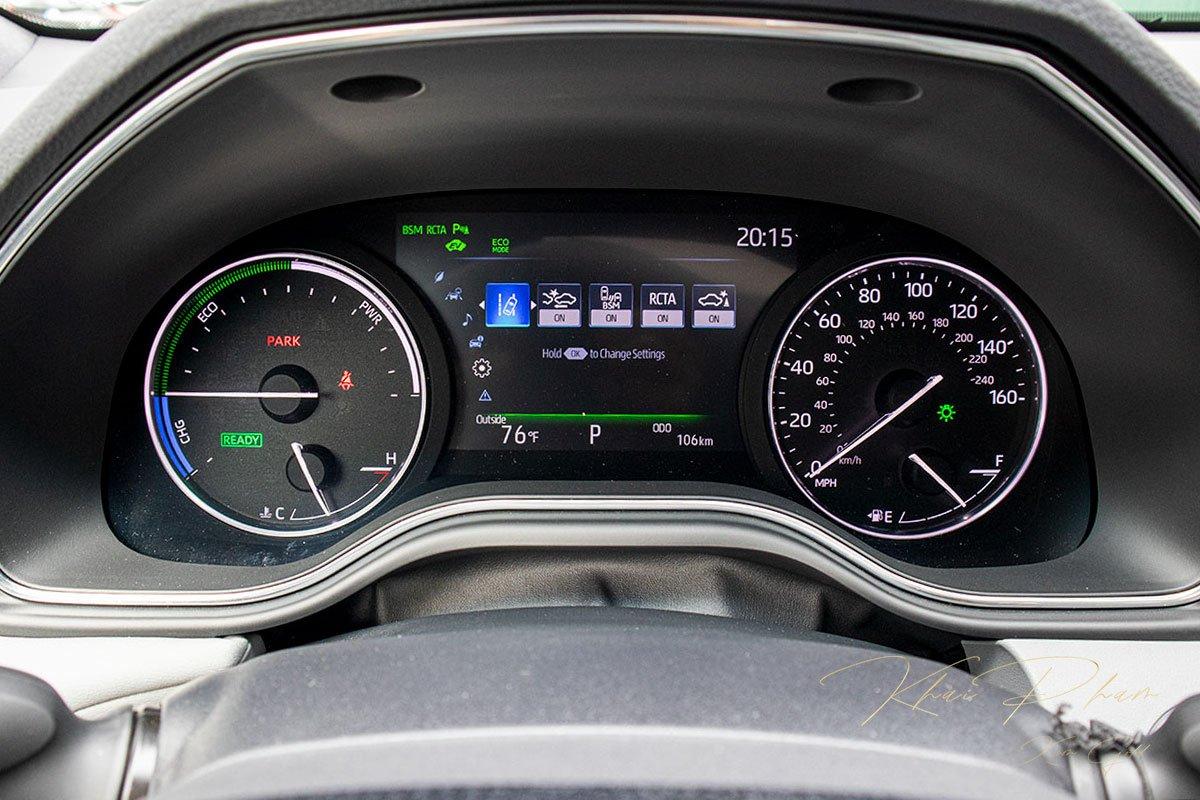 Ảnh chụp đồng hồ sau lái xe Toyota Avalon 2020