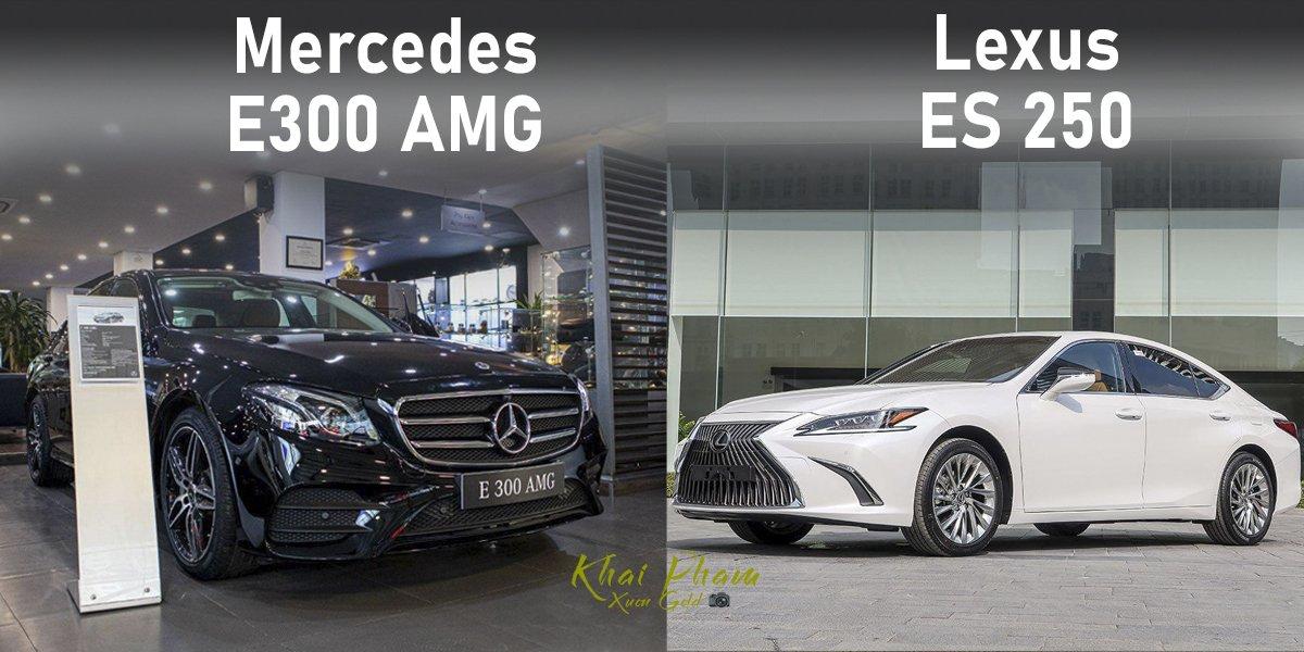 So sánh xe Mercedes-Benz E 300 AMG 2020 với Lexus ES 250 2020 â01