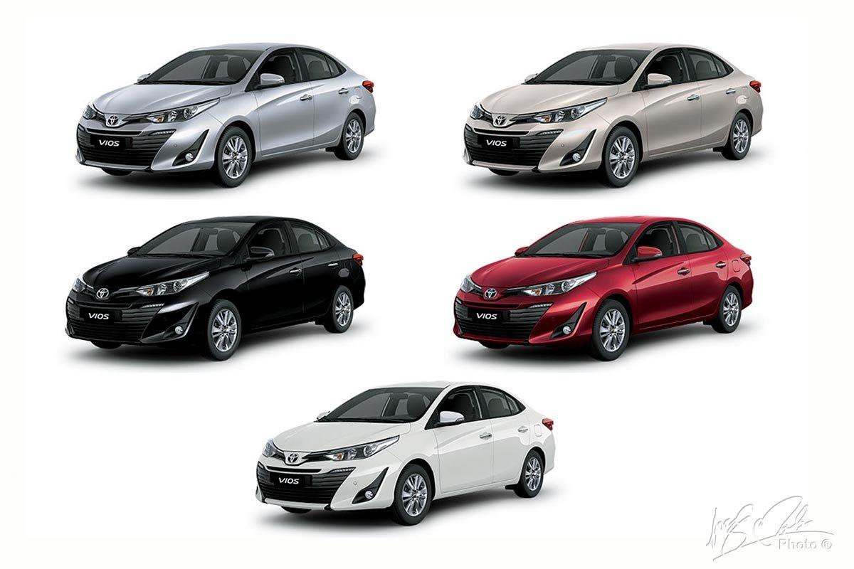 Lựa chọn màu sắc của Toyota Vios 2020.