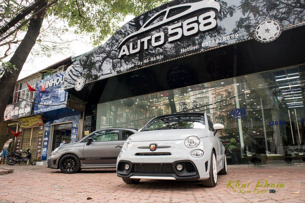 Ảnh chụp đầu xe Fiat 500 595 Abarth Esseesse 2020 đầu tiên về Việt Nam