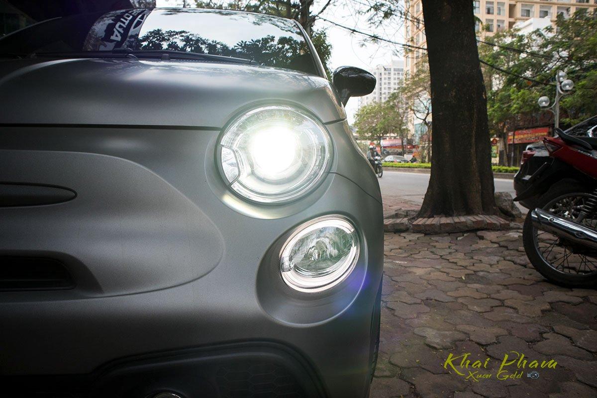 hình Ảnh đèn pha xe Fiat 500 595 Abarth Esseesse 2020 đầu tiên về Việt Nam