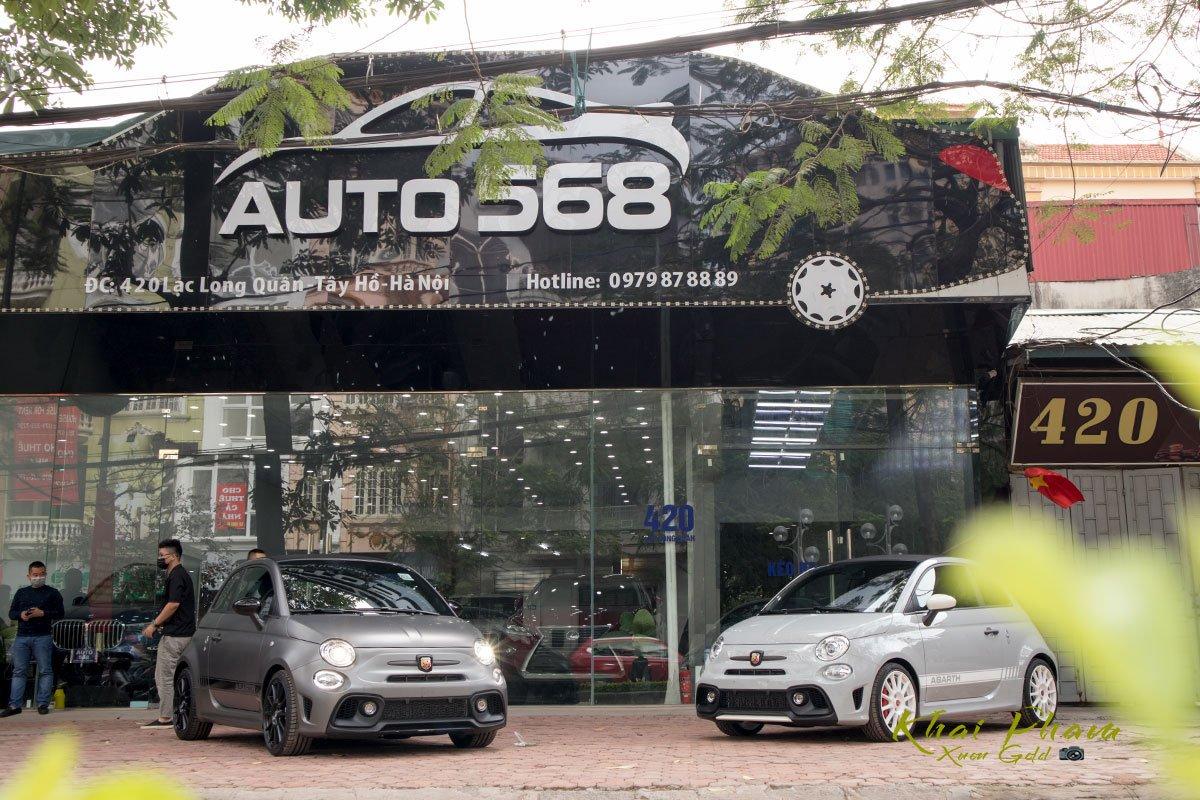 Ảnh chụp trước xe Fiat 500 595 Abarth Esseesse 2020 đầu tiên về Việt Nam