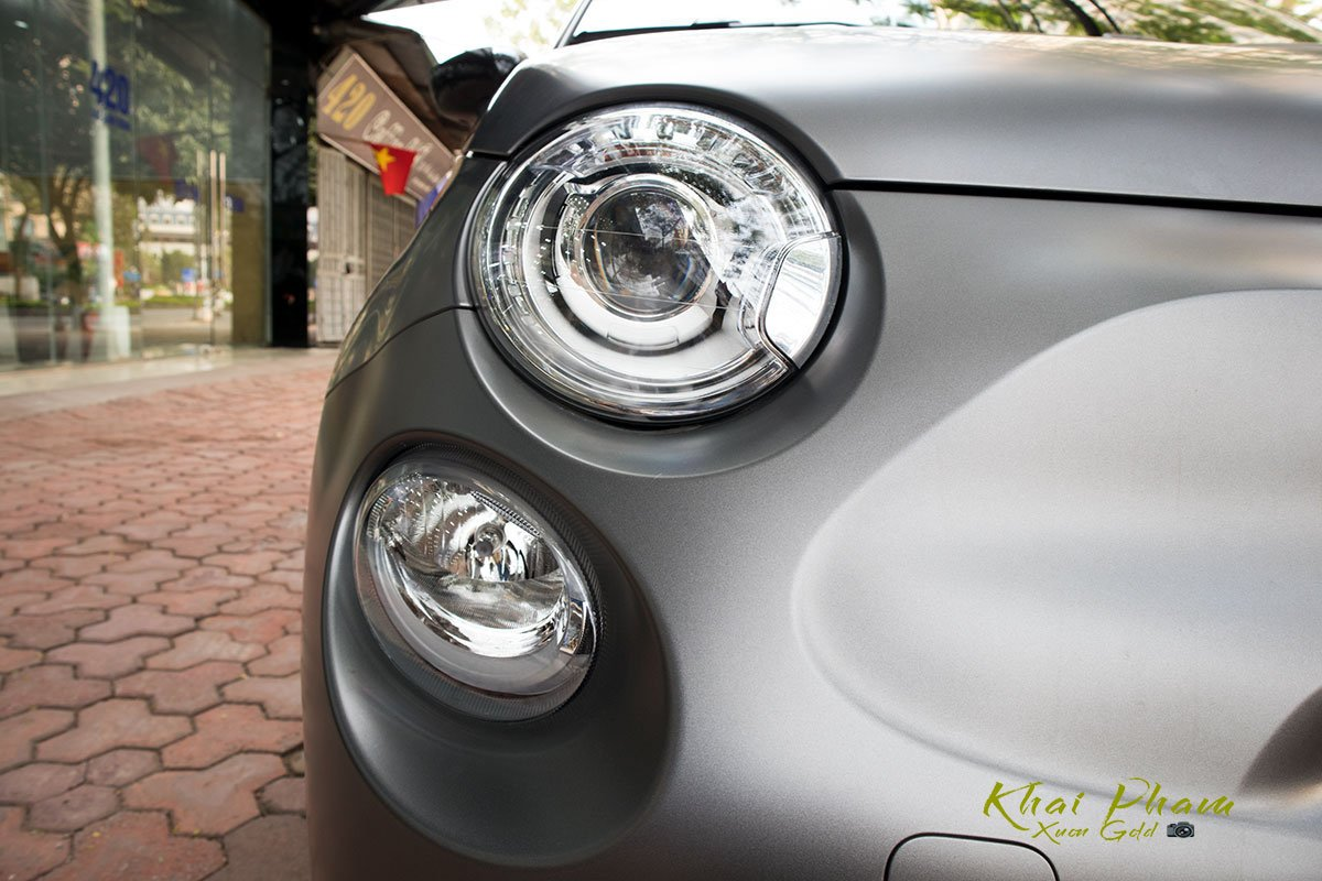 hình Ảnh chụp đèn pha xe Fiat 500 595 Abarth Esseesse 2020 đầu tiên về Việt Nam