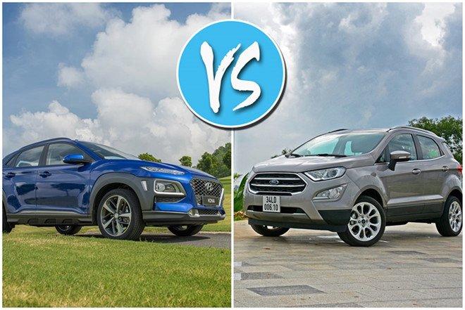 So sánh Ford EcoSport 2019 với đối thủ Hyundai Kona 2019