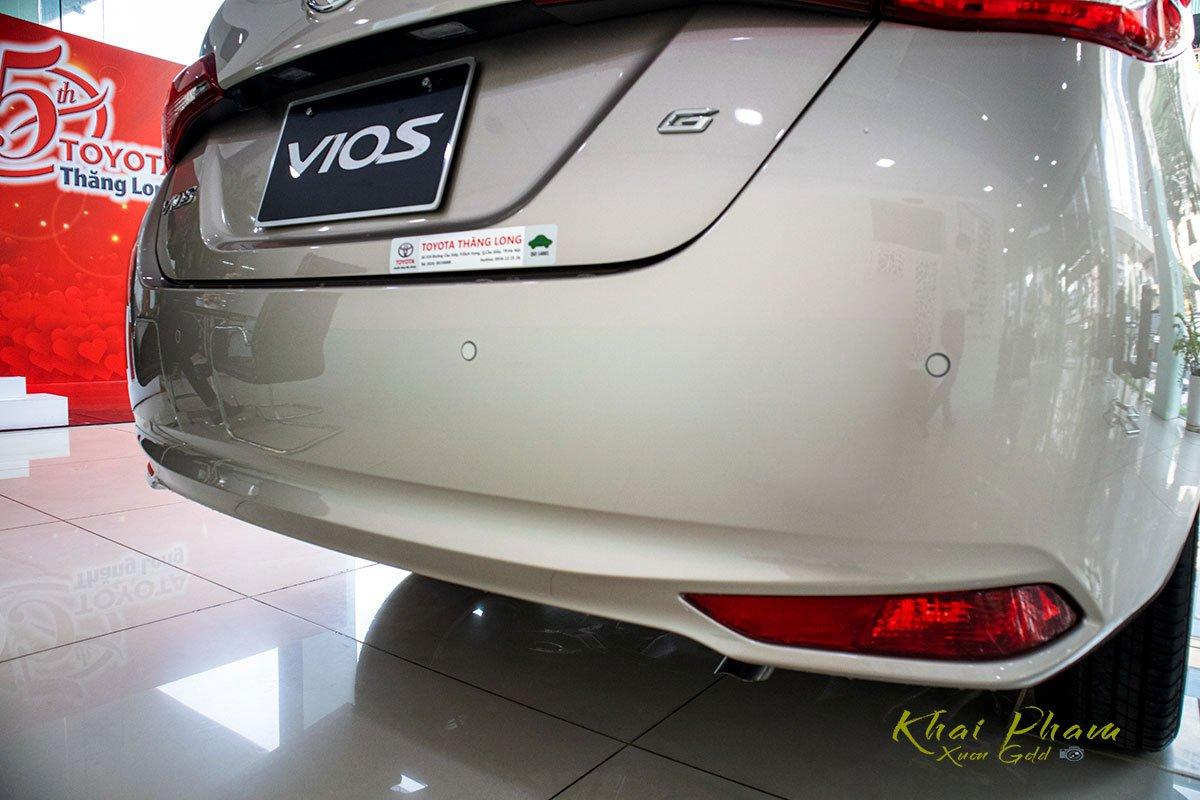 Ảnh chụp cản sau xe Toyota Vios 2020
