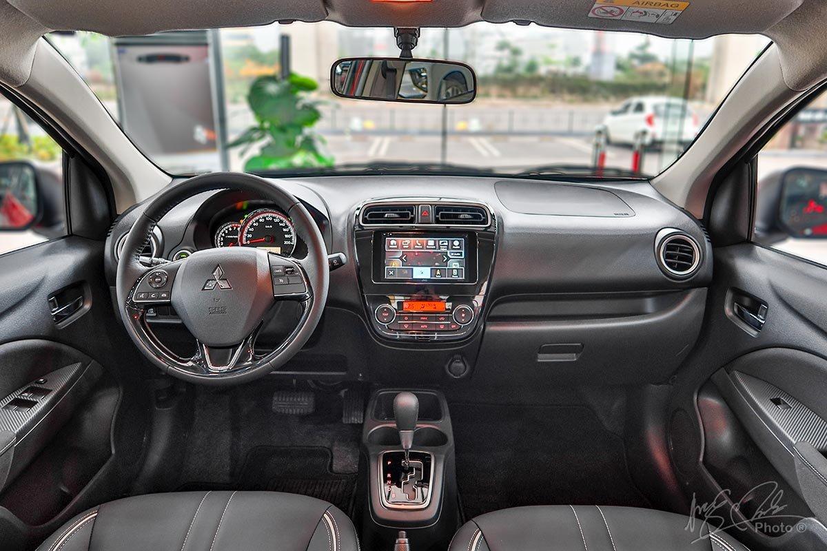 Nội thất của Mitsubishi Attrage 2020 không có nhiều điểm khác biệt so với mô hình cũ.