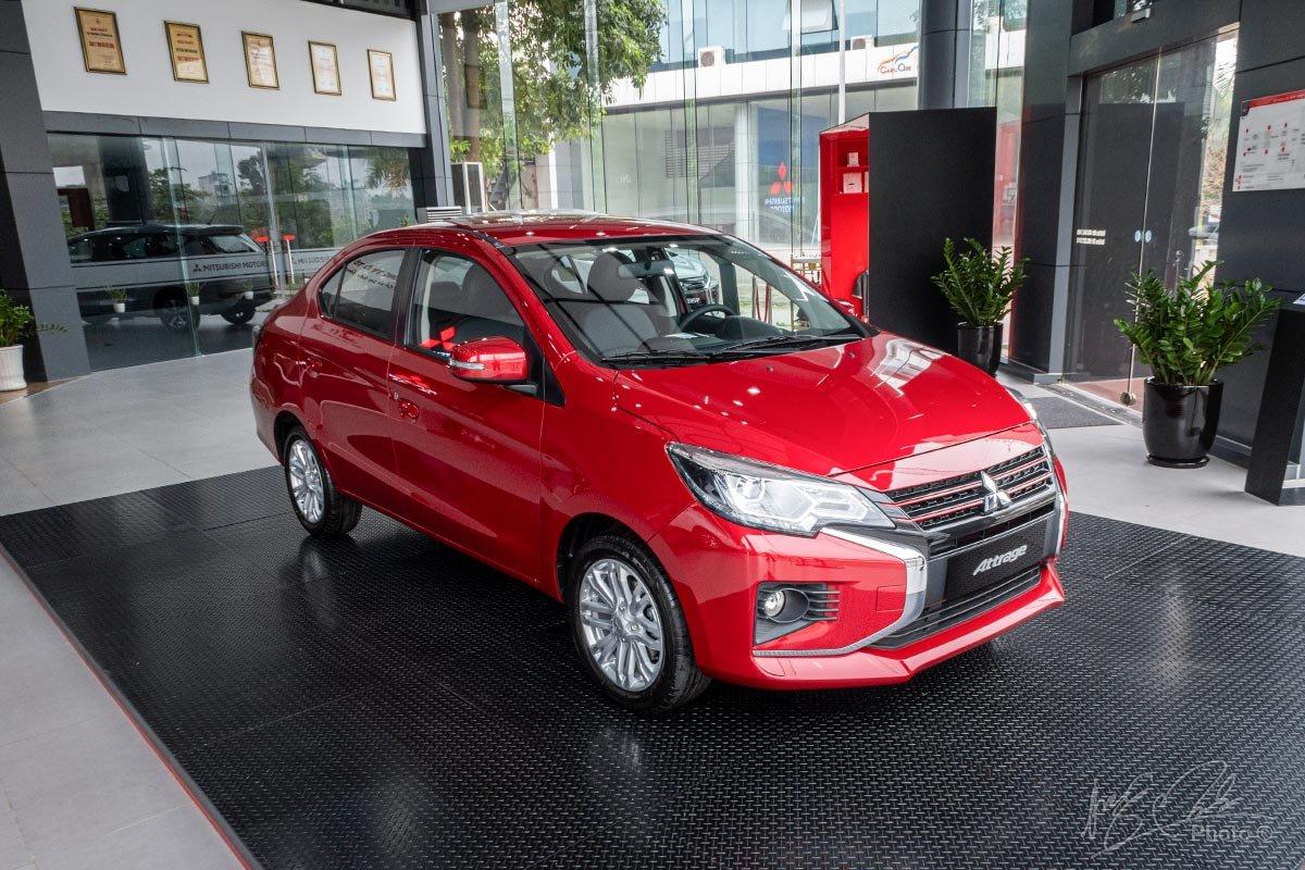 Ngoại hình của Mitsubishi Attrage 2020.