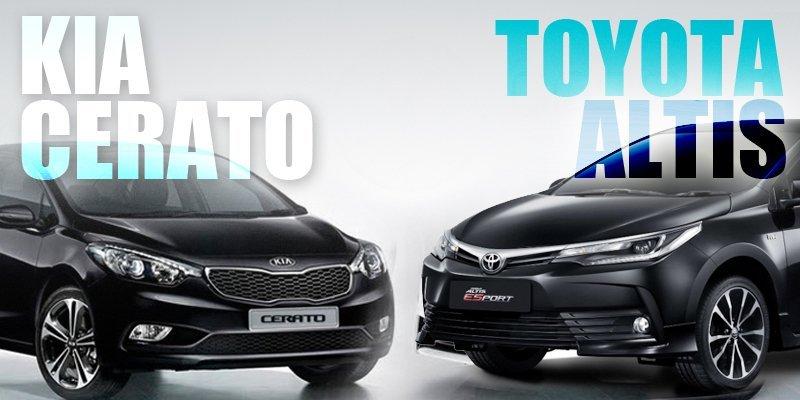 So sánh Toyota Corolla Altis với Kia Cerato