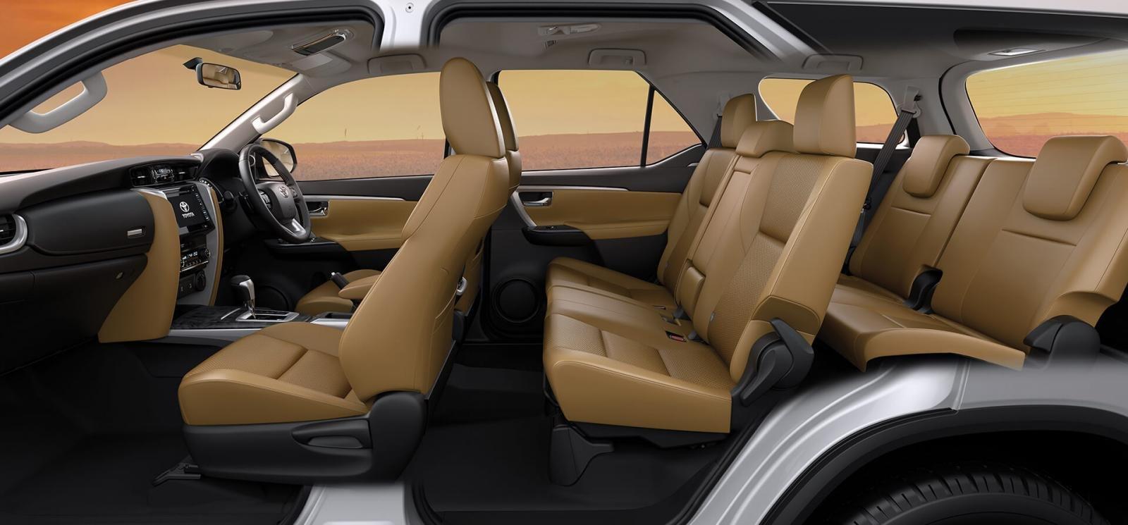 Nội thất xe Toyota Fortuner 2019 cũ