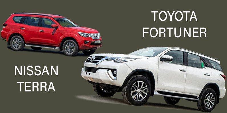 So sánh Toyota Fortuner 2019 với Nissan Terra 2019