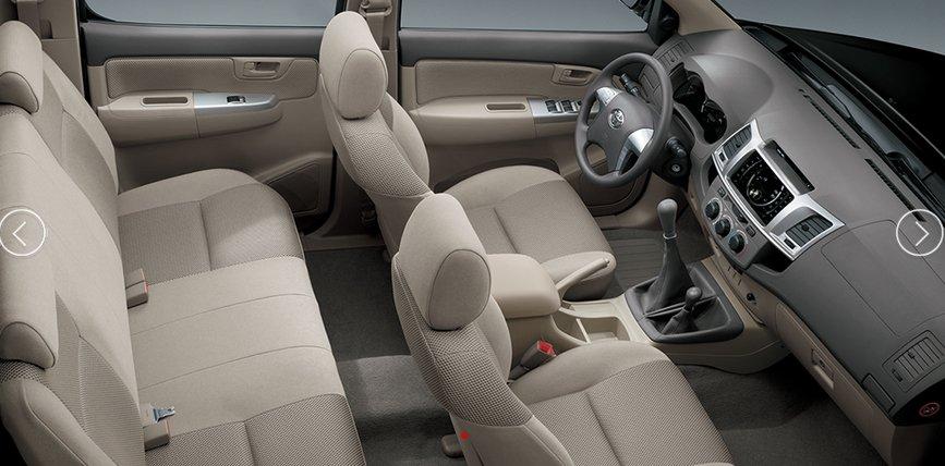 Nội thất xe Toyota Hilux 2020