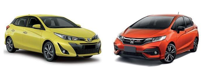 So sánh Toyota Yaris 2019 với Honda Jazz 2019