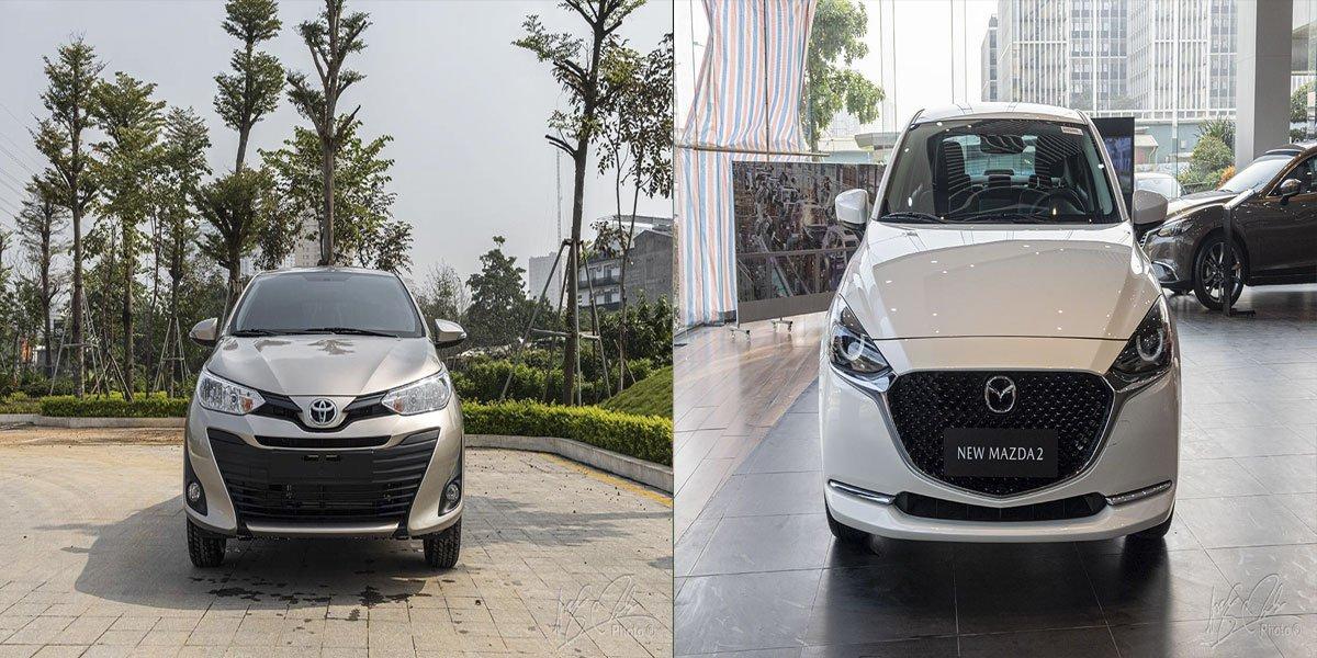Ảnh So sánh xe Mazda 2 2020 và Toyota Vios 2020