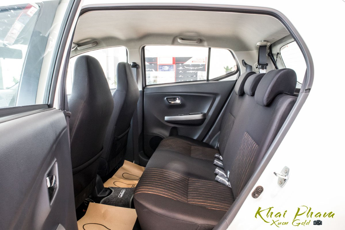 Ảnh chụp ghế sau xe Toyota Wigo 2020