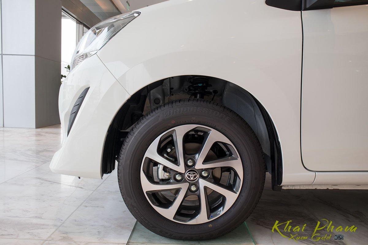 Ảnh chụp mâm xe Toyota Wigo 2020