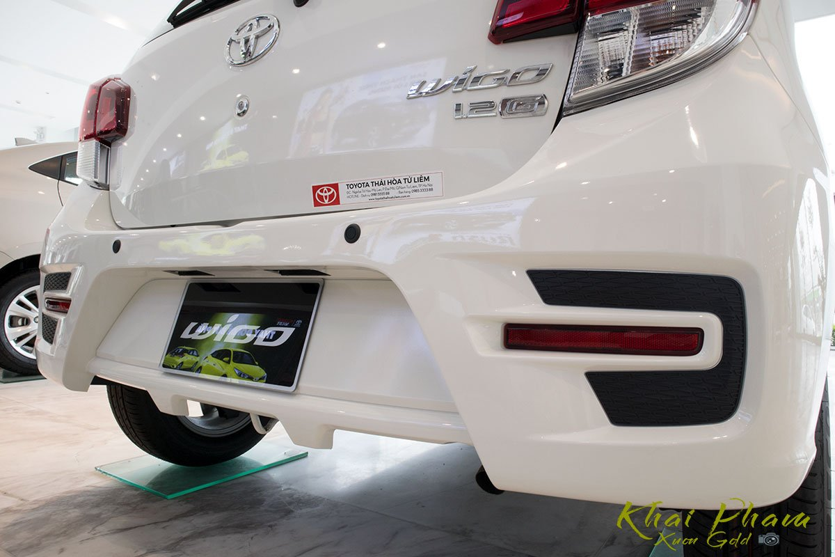 Ảnh chụp cản sau xe Toyota Wigo 2020