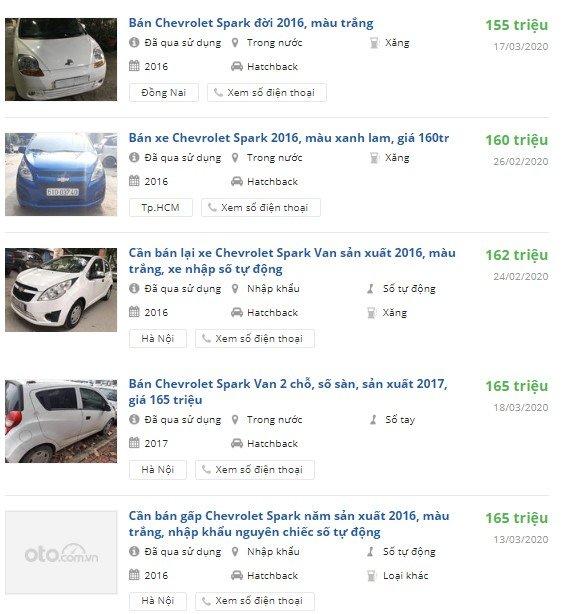Rao bán xe Chevrolet Spark cũ đời 2016-2018 1
