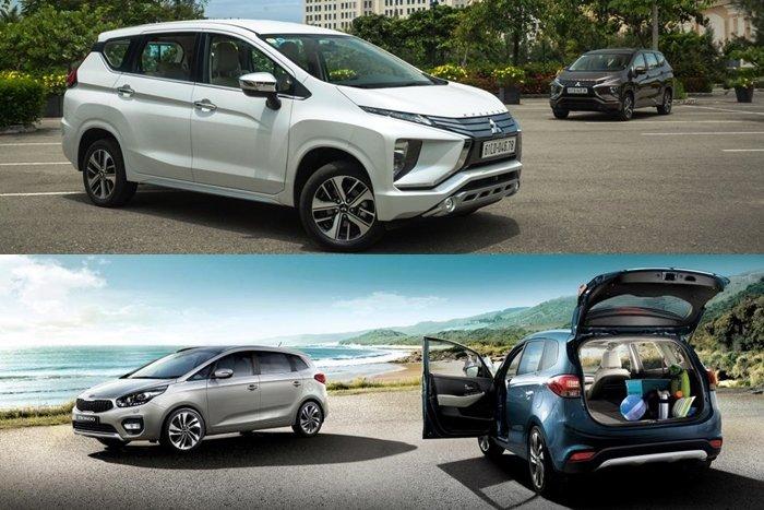 So sanh xe Mitsubishi Xpander 2020 va Kia Rondo 2020 Chon xe Nhat gia re hay xe Han tien nghi