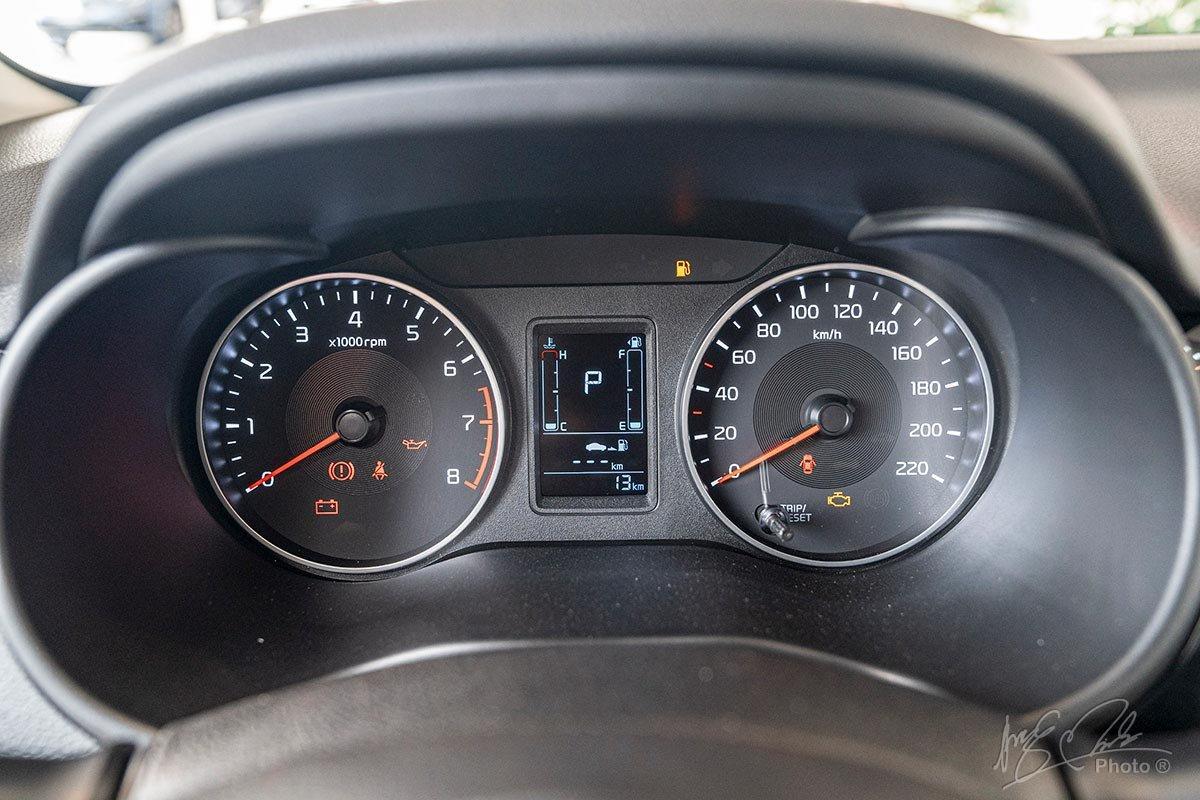 Cụm đồng hồ của Kia Soluto 2019.