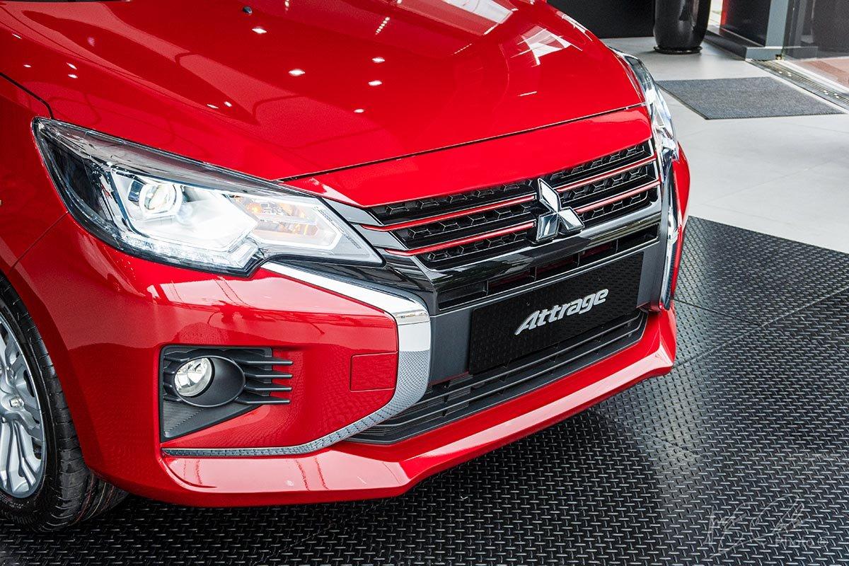 Lưới tản nhiệt theo phong cách Dynamic Shield của Mitsubishi Attrage 2020.