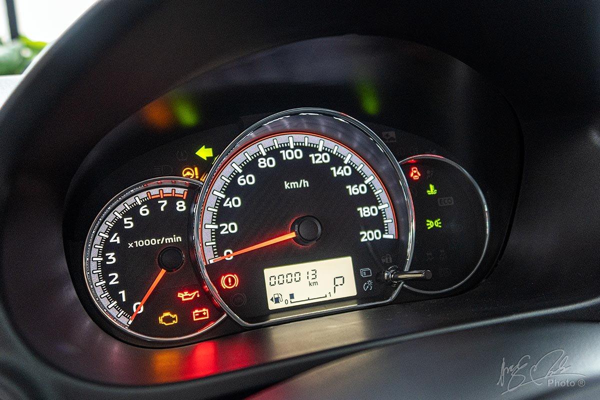 Cụm đồng hồ của Mitsubishi Attrage 2020.