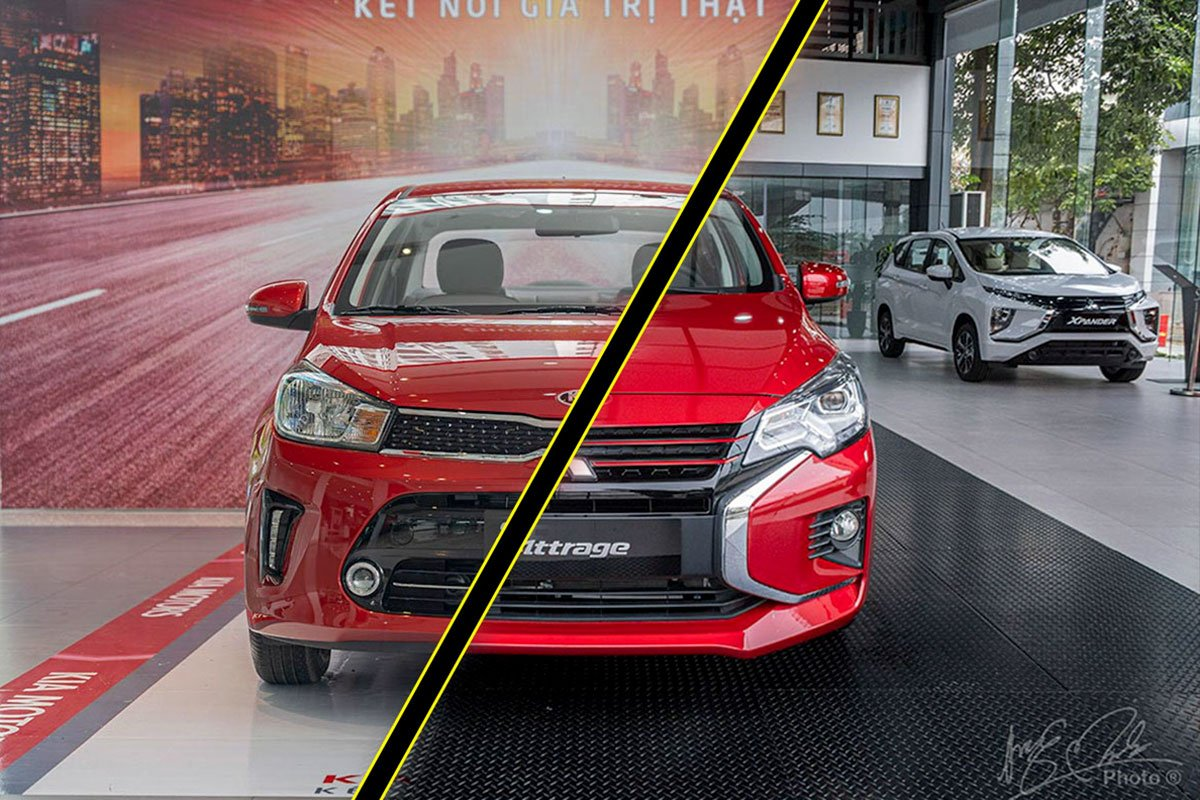 so sánh xe Mitsubishi Attrage 2020 và Kia Soluto 2019.