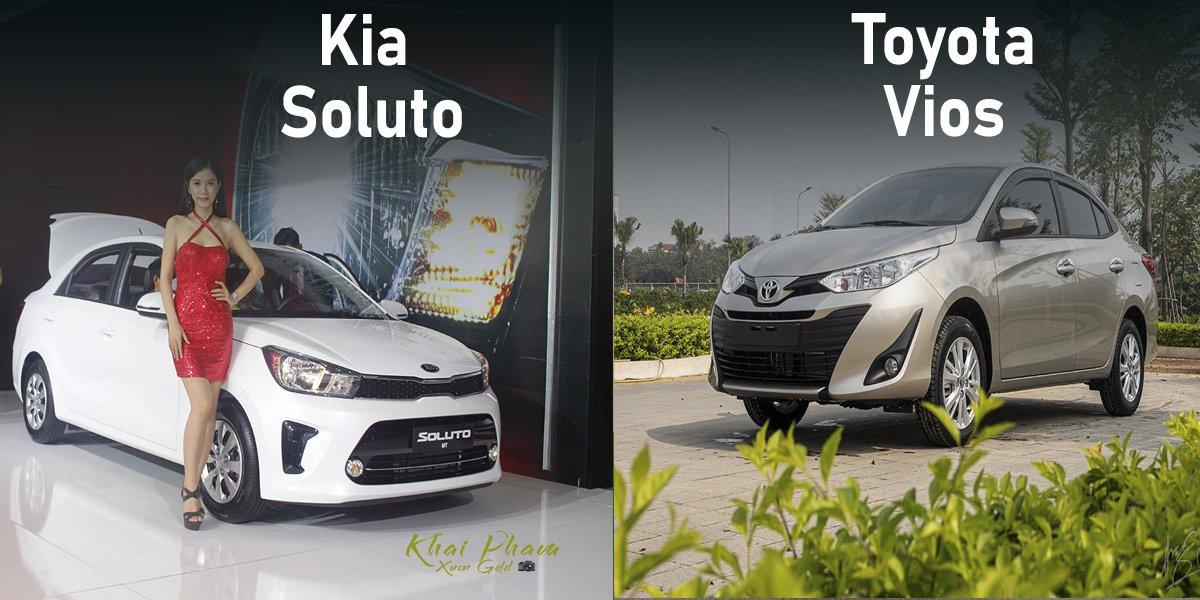 So sanh xe Toyota Vios 2020 va Kia Soluto 2020 Chon xe dich vu nao gia re