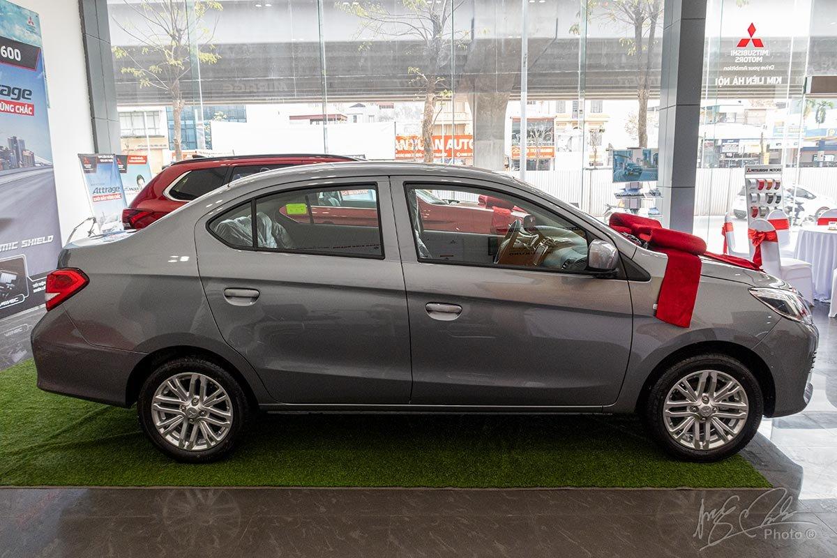 Đánh giá xe Mitsubishi Attrage MT 2020: Thân xe có thiết kế không đổi so với mô hình cũ.