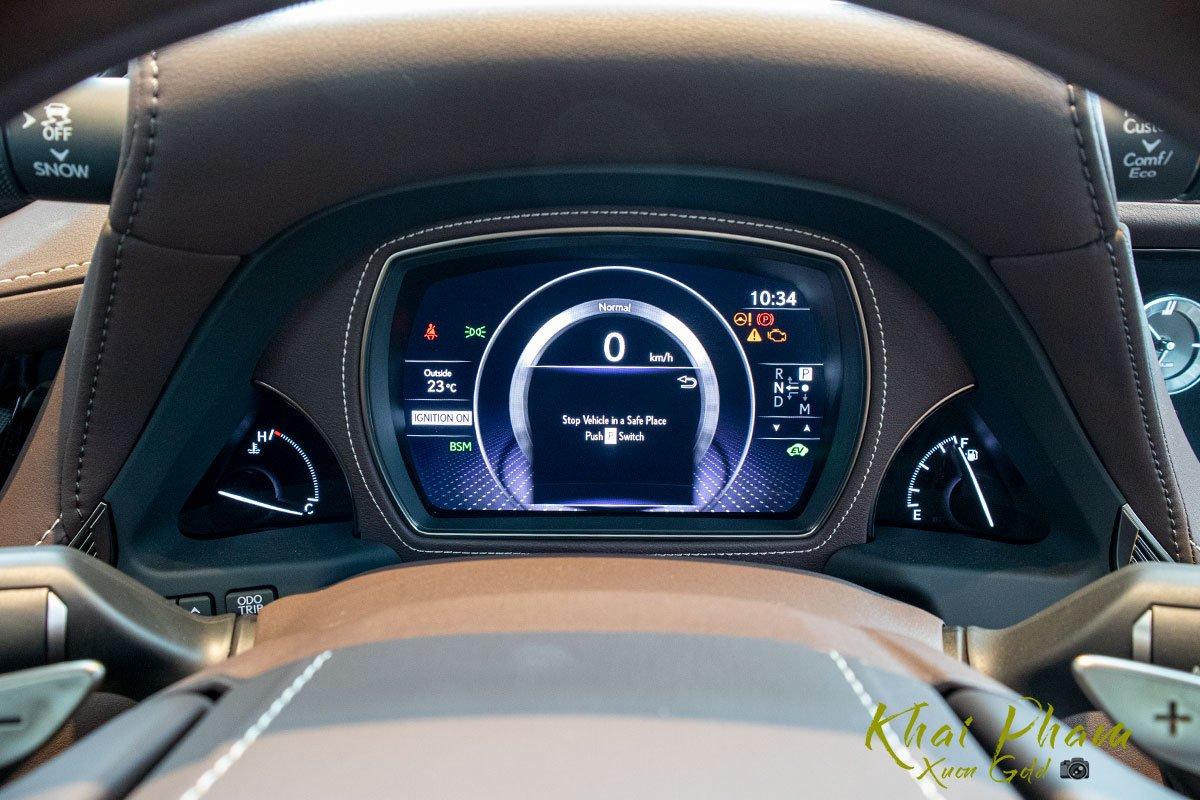 Ảnh chụp cụm đồng hồ xe Lexus LS 500h 2020 1