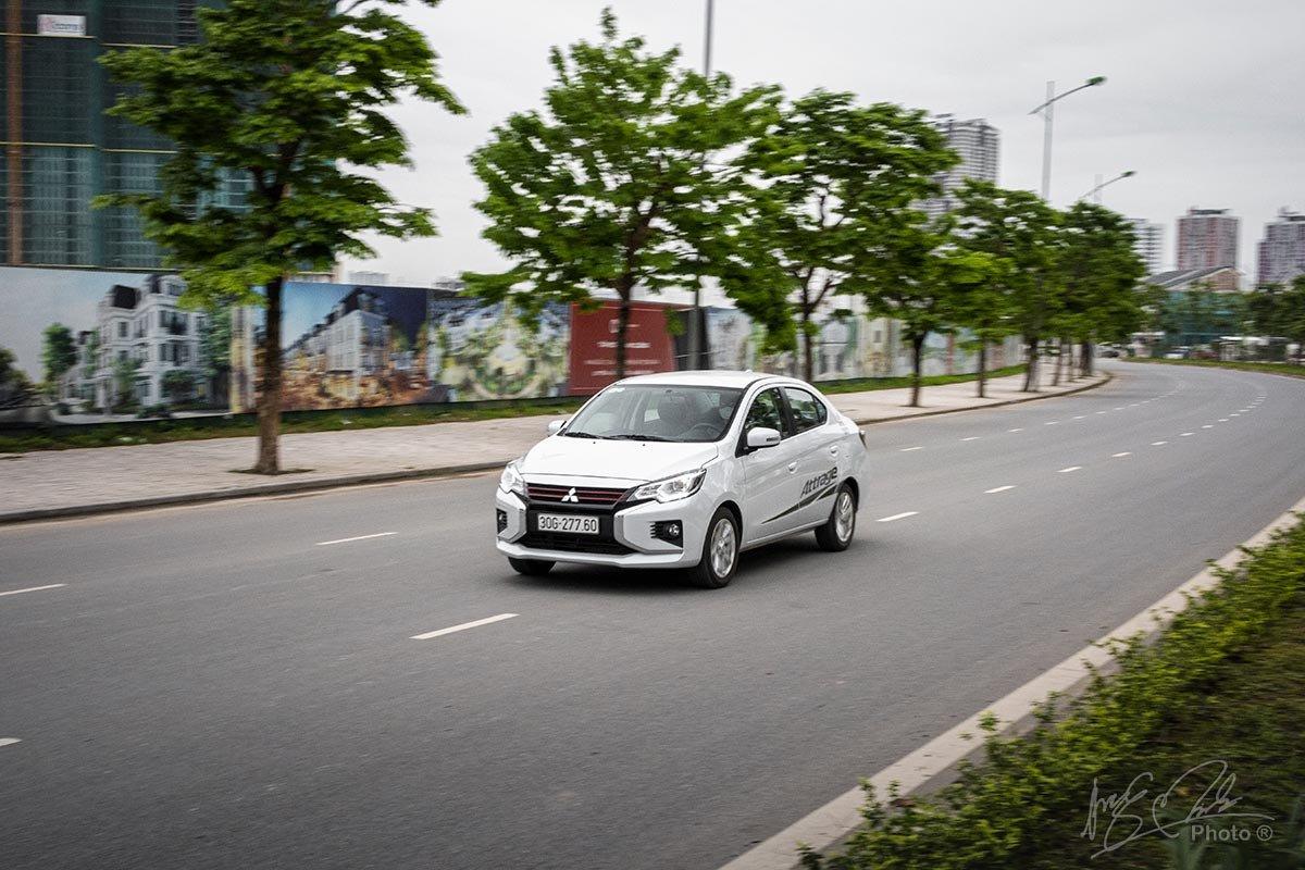 Đánh giá xe Mitsubishi Attrage CVT 2020: Vận hành.