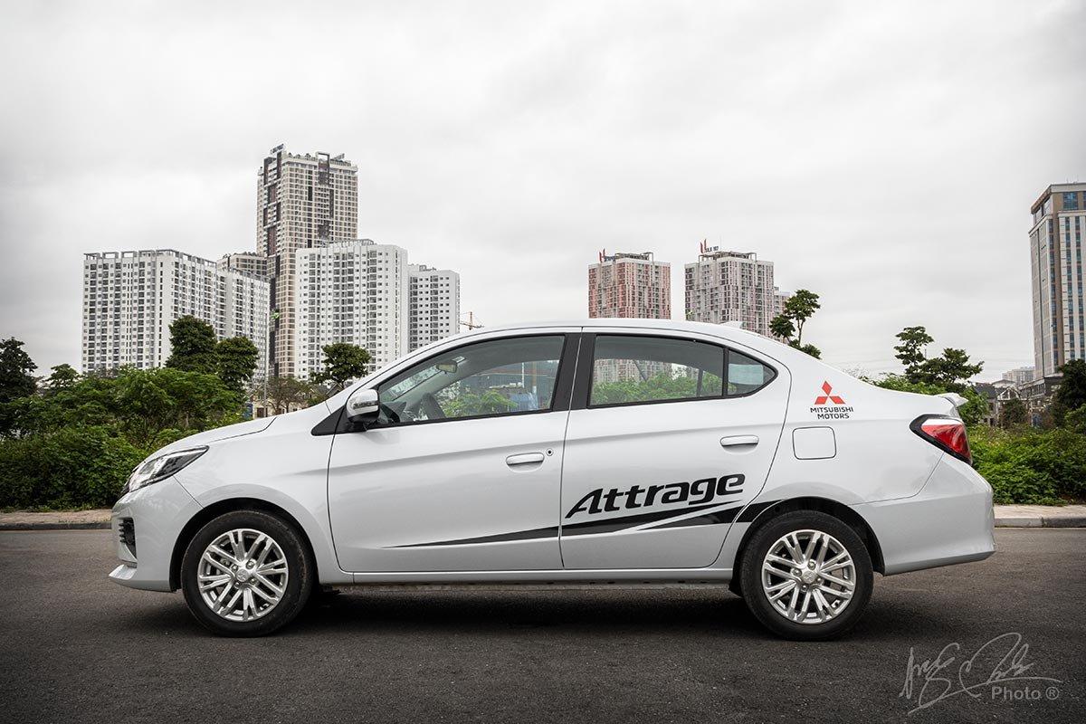 Đánh giá xe Mitsubishi Attrage CVT 2020: Thiết kế thân xe.
