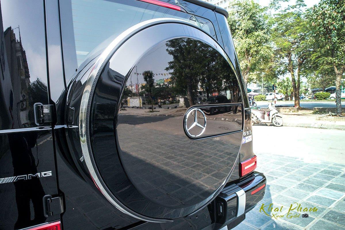 Ảnh chụp lốp dự phòng xe Mercedes-AMG G63 2020
