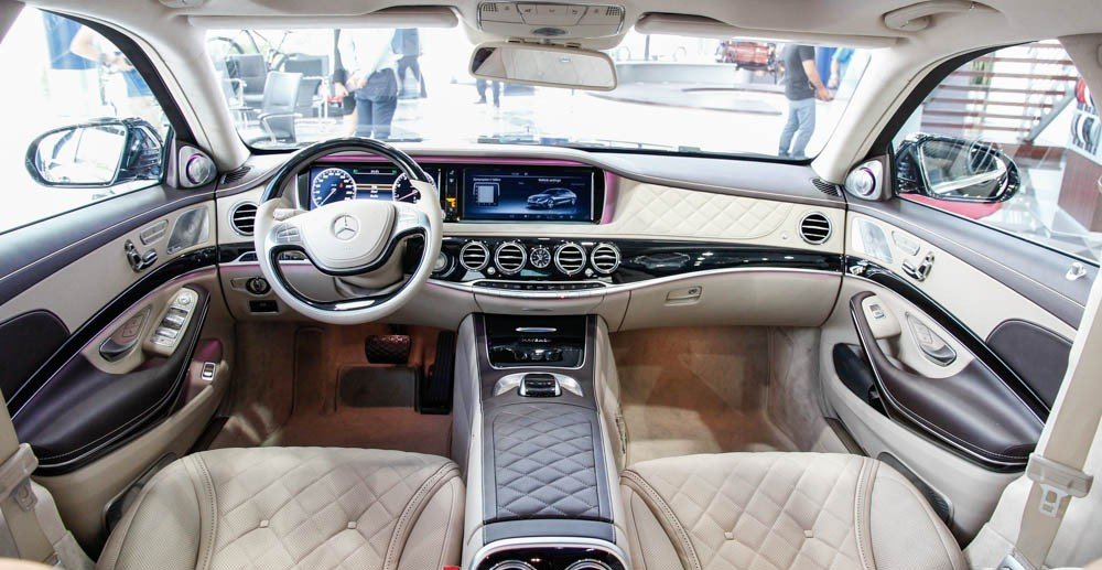 Nội thất xe Mercedes Maybach S600