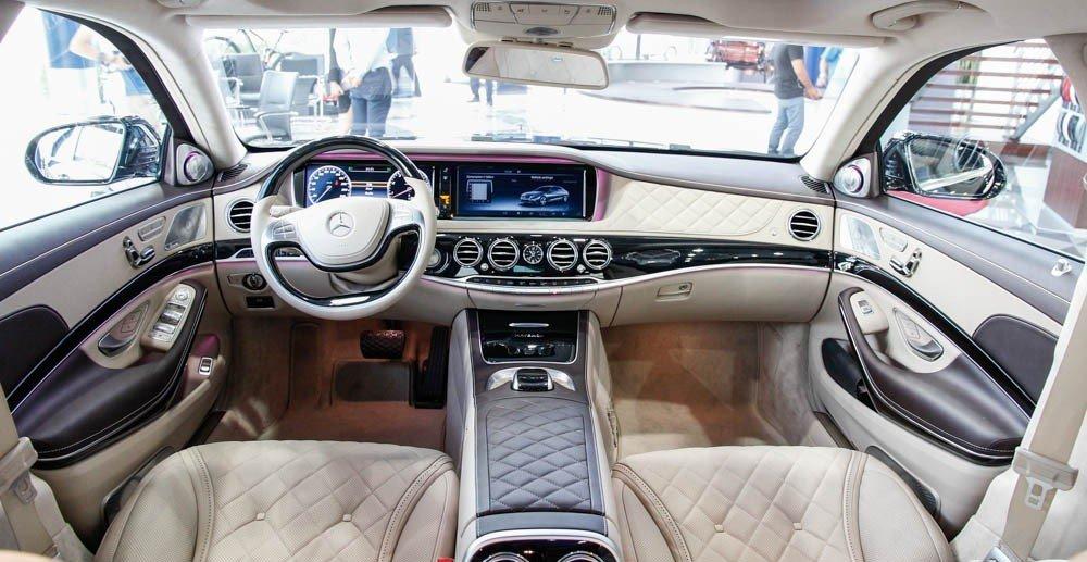Nội thất xe Mercedes Maybach S600