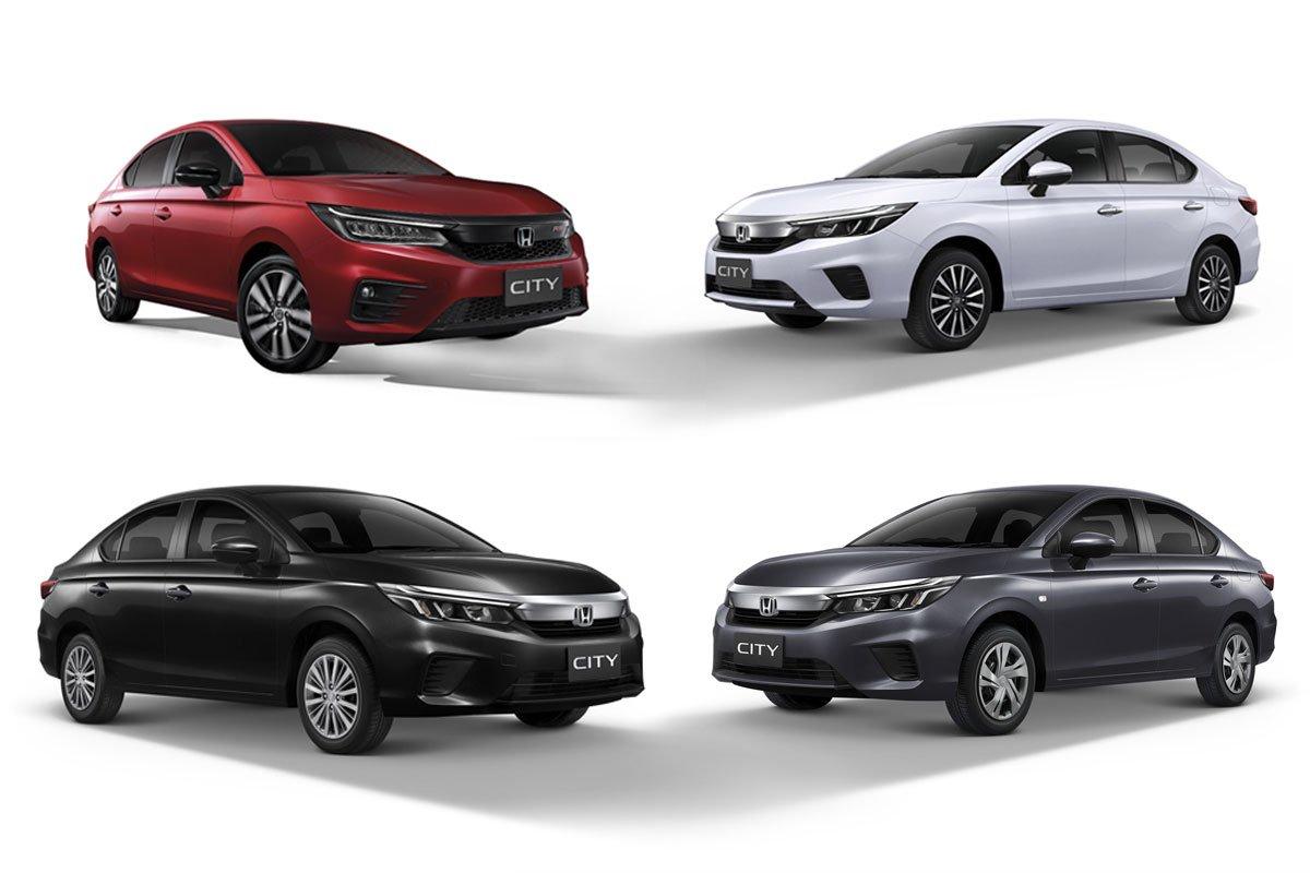 4 phiên bản của Honda City 2020 tại Thái Lan.