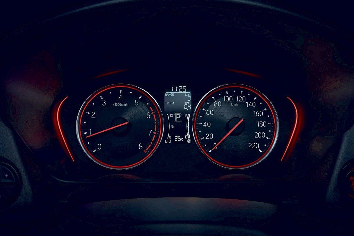 Đánh giá xe Honda City 2020 phiên bản RS: Bảng đồng hồ.