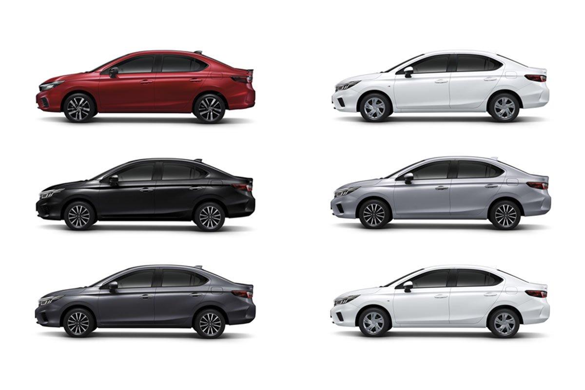 Màu sắc của Honda City 2020.