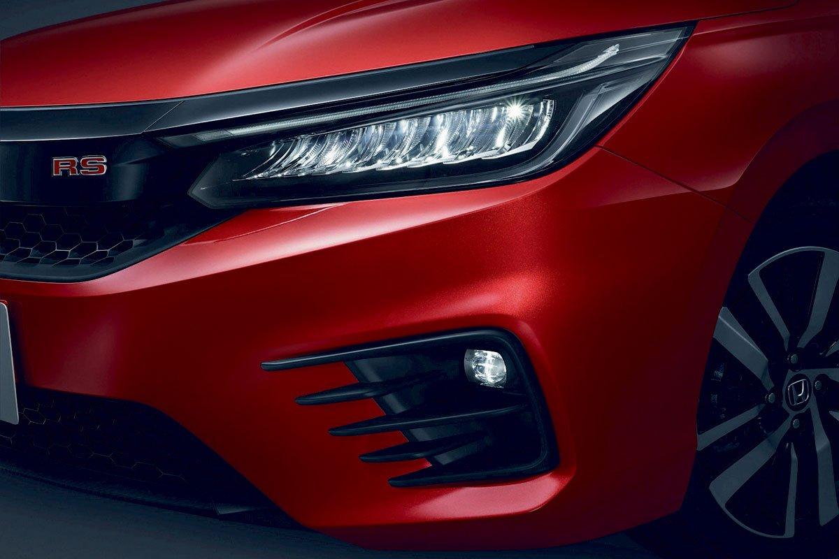 Đánh giá xe Honda City 2020 phiên bản RS: Đèn pha LED chỉ có mặt trên phiên bản RS.