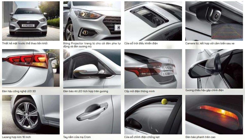 Thông số kỹ thuậtxe Hyundai Accent2020: Ngoại thất...